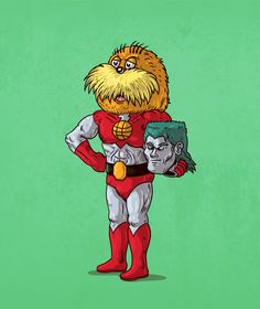 Cheeky Cartoonist Reveals the Secret Double Lives of Iconic Characters