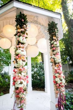 We've put together a collection of many different garden wedding ceremony ideas with splendid details that will have your outdoor wedding looking exquisite. Wedding Ceremony Ideas, Gazebo Wedding Decorations, Orange Wedding Flowers, Rustic Wedding Flowers, Wedding Doves, Garden Wedding Inspiration, Wedding Planning, Classic Weddings, Romantic Weddings