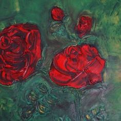 Red rose in oil - Babetts Bildergalerie - The picture was painted in oil on canvas. Red rose in oil Red rose leaves Flowers blossoms Canvas Print Rose Leaves, Leaf Flowers, Canvas Artwork, Oil On Canvas, Blossom Flower, Stretched Canvas Prints, Custom Framing, Wall Murals, Red Roses