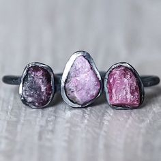 NEW || Raw Ruby and Oxidised Sterling Silver Ring || Available in our 'NEW' and 'Gems and Stones' Collections NOW || www.indieandharper.com