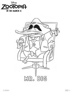 Get your Zoo on with this Mr. Big coloring page!