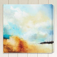 """stairwell wall  """"Desert Skies I"""" by Sean Jacobs 