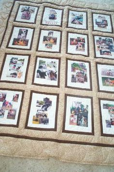 Bordered and sashed memory quilt