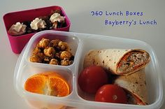 360 Lunch Boxes - this lady takes pictures of all the lunches she packs for her kids to take to school. Some pretty good ideas to keep things interesting yet easy!