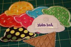 Tutorials: Ice Cream Cone Chore Chart