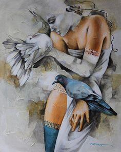 Victoria Stoyanova, Bulgarian painter, was born in Sofia, Bulgaria. Her colorful fantasy paintings reflect the mystery of female beauty, setting light and darkness in harmony and art where human warmth and wisdom dominates.