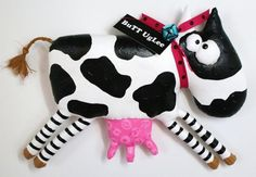 Cow  named  BuTTer par buttuglee sur Etsy