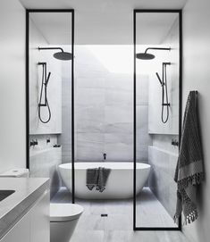 Gallery Of Jells Road By Canny Group Local Australian Design And Residential Architecture Melbourne, Vic Image 11 Wet Room Bathroom, Bathroom Renos, Bathroom Renovations, Small Bathroom, Master Bathroom, Barn Bathroom, Bathroom Ideas, Bathroom Design Luxury, Dream Bathrooms