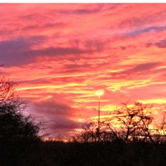 St Valentine's Day Sunset  Uddingston, Glasgow
