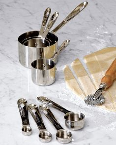 I love these :) All-Clad Stainless-Steel Measuring Cups & Spoons at Williams & Sonoma