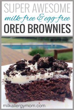 Scrumptious Oreo Brownies | Dairy-Free & Egg-Free