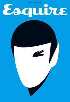 Spock by Noma Bar for Esquire UK | May 2009