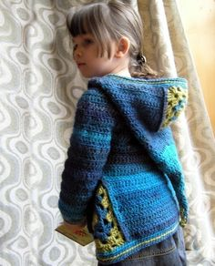 Items similar to Ermeline - CROCHET PATTERN for boys and girls cardigan size to 8 year old on Etsy Crochet Girls, Crochet For Kids, Knit Crochet, Crochet Hoodie, Crochet Cardigan Pattern, Hoodie Pattern, Hooded Cardigan, Hooded Jacket, Knitting Patterns