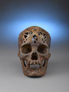 Ulu, Dayak Skull Trophy, Borneo ... strangely beautiful, in a slightly creepy way