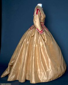 Augusta Auctions, November 14, 2012 NEW YORK CITY, Lot 159: Silk & Velvet Day Dress, Mid 1860s