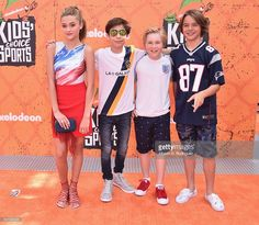 Actors Lizzy Greene, Aidan Gallagher, Casey Simpson and Mace Coronel... News Photo | Getty Images