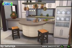 Tierra Kitchen by Satureja at Blacky's Sims Zoo via Sims 4 Updates