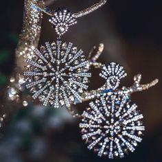 Sutra Jewels (@sutrajewels) on Instagram: Diamond SUTRA snowflake Earrings. #diamonds #snowflakes #sutra #sutrajewels