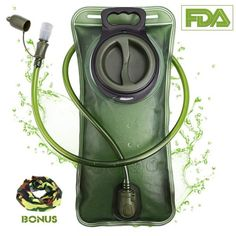 Buy Hydration Bladder 2 Liter Green Water Reservoir Water Bladder Hydration Large Opening at Wish - Shopping Made Fun Bohinj, Outdoor Backpacks, Hydration Pack, Water Storage, W 6, Hiking Backpack, Drinking Water, Bags, Stuff To Buy