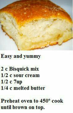 Bisquick easy Biscuits…previous pinner said….Everyone raved and two batches … Bisquick easy Biscuits…previous pinner said….Everyone raved and two batches were gone in seconds. Bread Recipes, Cooking Recipes, Yummy Recipes, Cooking Fish, Def Not, Good Food, Yummy Food, Easy Biscuits, Homemade Biscuits