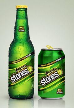 Cerveja Lemon Stones, estilo Fruit Beer, produzida por Compania Cervecerias Unidas, Chile. 2.5% ABV de álcool.