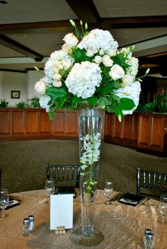 White Flowers Centerpieces