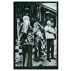 James Green - Tribells, Llandudno linocut print