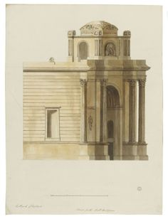 Record drawings of a design for a four-columned triumphal arch Classical Architecture, Drawings, Building, Image, Classic Architecture, Buildings, Sketches, Drawing, Portrait