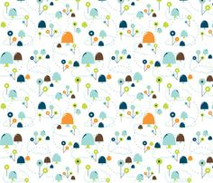 Mushroom Garden fabric by aimeemarie on Spoonflower - custom fabric
