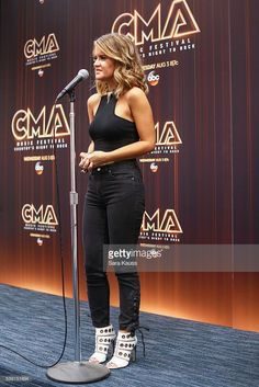 Maren Morris in the press room during CMA Music Fest on June 9, 2016 in Nashville, Tennessee.