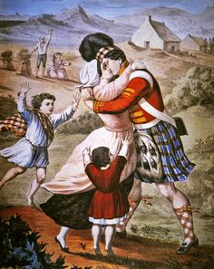 Painting ~ The Highlander's Return, published by Currier & Ives