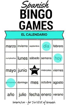 Calendar Days Of The Week In Spanish.113 Best Spanish Calendar Spanish Numbers Images In 2019 Spanish
