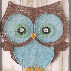 Big eyed owl string art all strung up