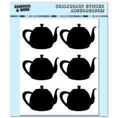 Teapot chalboard stickers