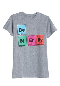 Perfect for my chemistry minor. I really would wear this, sad to say!