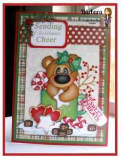 PAPER PIECING MEMORIES BY BABS: Christmas Bear Card