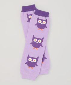 Look at this Bambino Land Purple Owl Organic Leg Warmers on #zulily today!