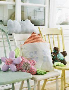House & Flowers Pillows