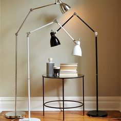 We ordered this Industrial Task Floor Lamp from west elm in silver ... Love that it moves up and down! Perfect for needing light for photos and flat lays! Especially when the sun isn't in our favor