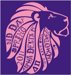 Hear me roar.    #alphadeltapi #adpi #bidday #lion