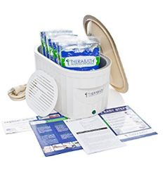 Therabath Professional Thermotherapy Paraffin Bath - Arthritis Treatment Relieves Muscle Stiffness - For Hands, Feet, Face and Body - 6 lbs of Paraffin Wax (ScentFree) Dry Cracked Heels, Cracked Skin, Wax Spa, Wax Bath, Paraffin Bath, Dry Heels, Pedicure Supplies, Yoga For Arthritis