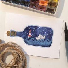 new Ideas art inspiration watercolor ideas Watercolour Painting, Painting & Drawing, Watercolor Ideas, Watercolours, Diy Painting, Doodles, Love Art, Cute Drawings, Art Inspo