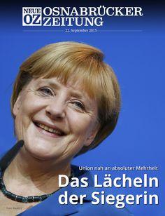 Bundeskanzlerin Angela #Merkel und die #Union sind die Sieger der #Bundestagswahl.   Alle Infos rund um #btw13 lesen Sie in der iPad-Abendausgabe vom 22. September 2013.