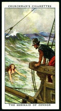 Cigarette Card - The Mermaid of Zennor
