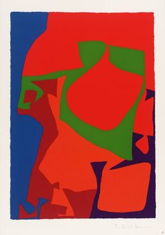 Patrick Heron : First Vertical Screenprint : 1978 © Estate of Patrick Heron. All Rights Reserved, DACS 2014 Patrick Heron, Abstract Art Images, Shape Art, Painting Gallery, Texture Art, Figure Painting, Beautiful Paintings, Art Music, Artist Art