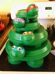 Stacked ninja turtles