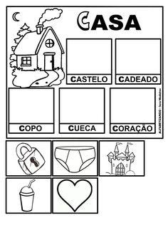 Jogo do Alfabeto para Alfabetização: Fichas para imprimir Portuguese Lessons, Learn Portuguese, Teaching Spanish, Summer School, Vocabulary, Literacy, Diagram, Album, Learning