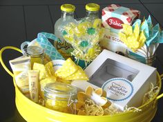 Emily's Blog: Sunshine Gift Basket to uplift someone and bring a little brightness to their day. Love this idea!