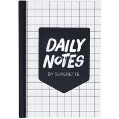 Superette Daily Notes Notebook ($26) ❤ liked on Polyvore featuring home, home decor, stationery, fillers, books, accessories, notebooks, extras and magazine