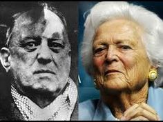 Barbara Bush, wife of George H. Bush, was most likely fathered by satanist Aleister Crowley This information may at first seem ridiculous, but the source is Aleister Crowley's own diary, and is substantiated by historical Barbara Bush, Aleister Crowley, Black Rocks, The Great, Bush Family, Religion, American Crime, American History